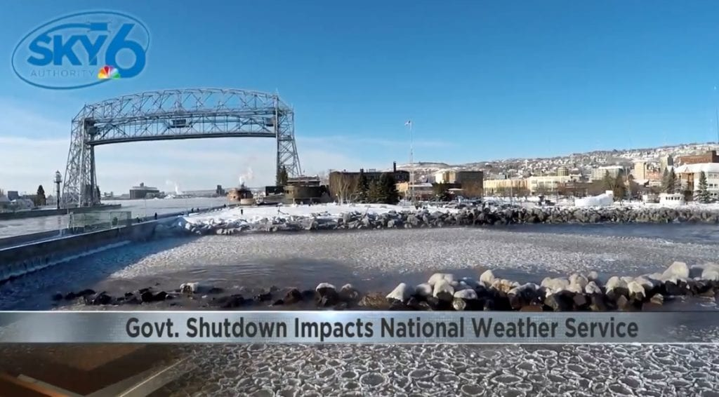 Government shutdown impacts forecasting of lake effect snow