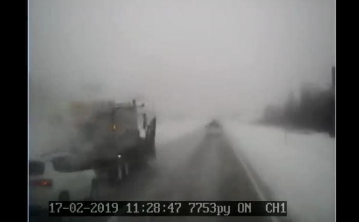State officials share crash video to remind people to slow down in snowy conditions