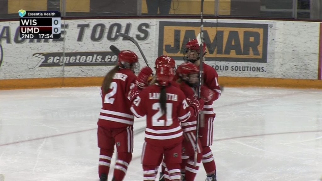#2 Wisconsin blanks UMD 3-0 for series sweep