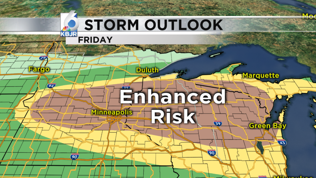 Severe weather threat is high today!