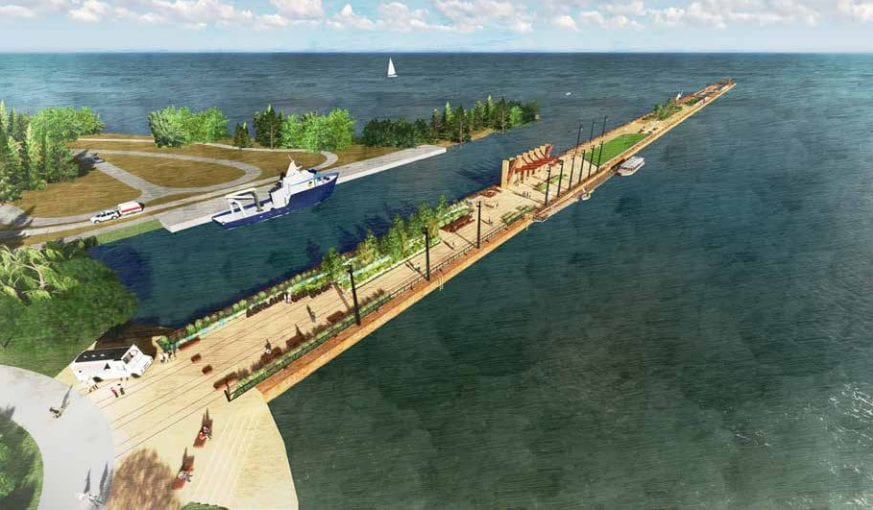 Ore dock transformation ongoing in Ashland