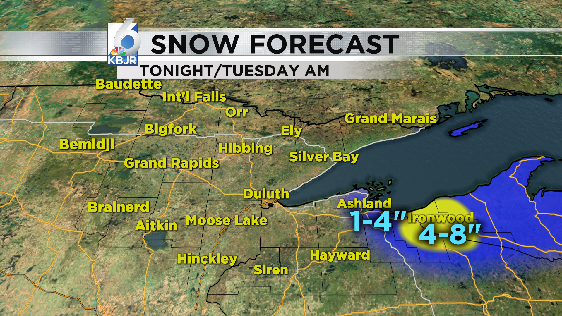 Lake Effect snow continues for South Shore.