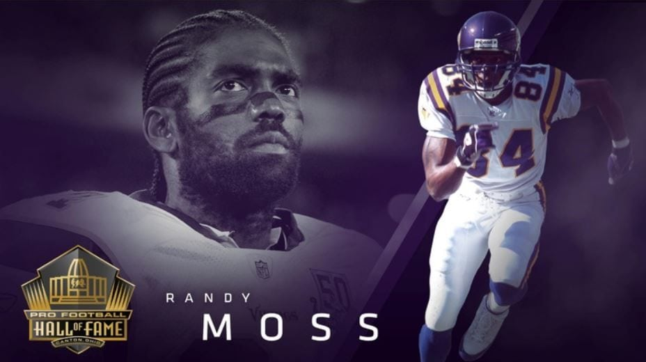 finest selection cd84e 8e61d Randy Moss Confident As Ever As He Enters Hall of Fame - KTTC