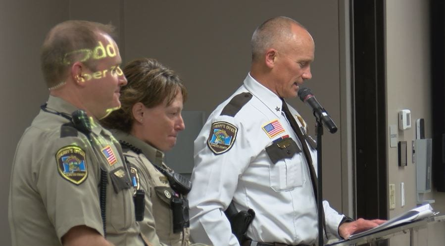 Olmsted County Sheriff's Office hosts department award