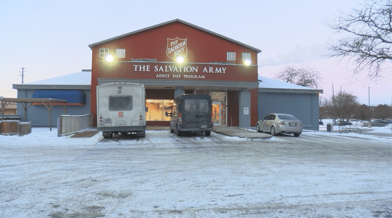 Salvation Army warming center in downtown Rochester