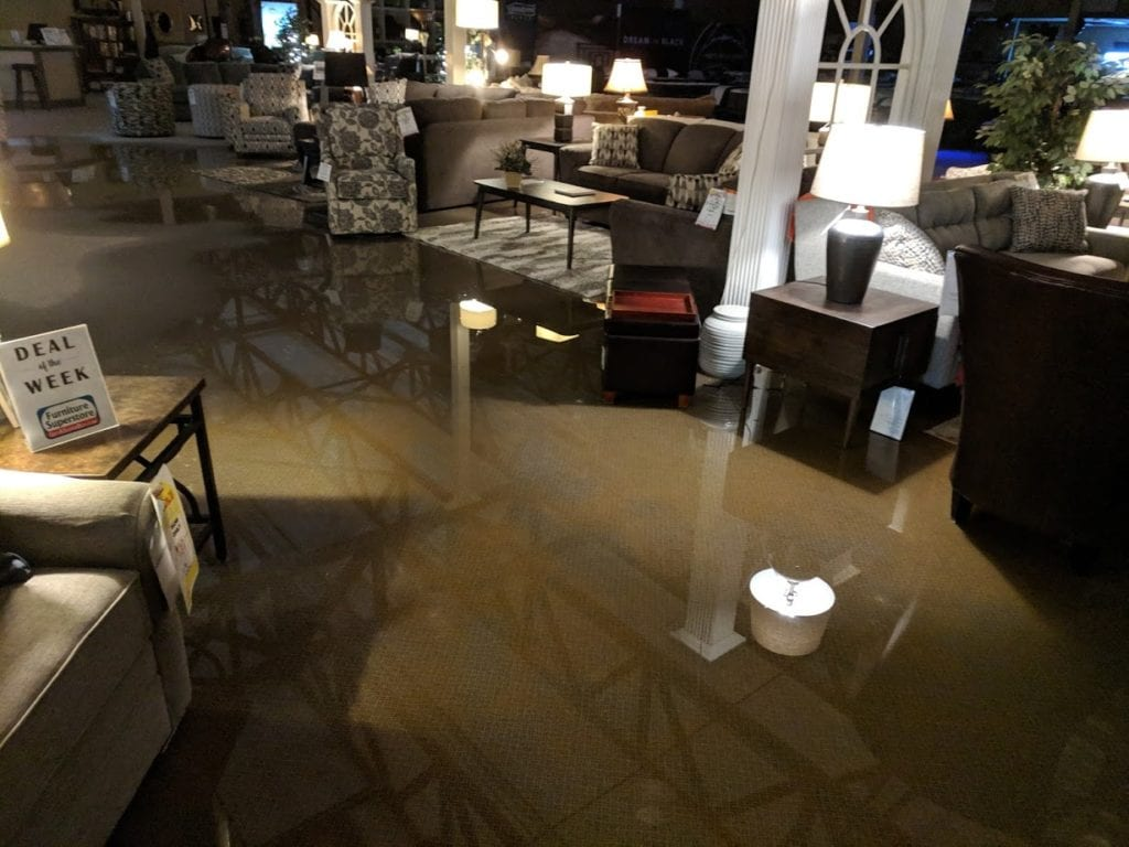 Furniture Superstore Filled With About 2 000 Gallons Of Water After