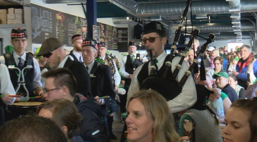 529cd5d8a Watson has been playing the bag pipes for about 15 years, but he says  nothing beats St. Patrick's Day and riding the group bus around the city  playing at ...