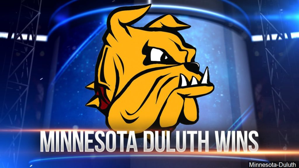 Fans celebrate NCAA hockey champs in Duluth