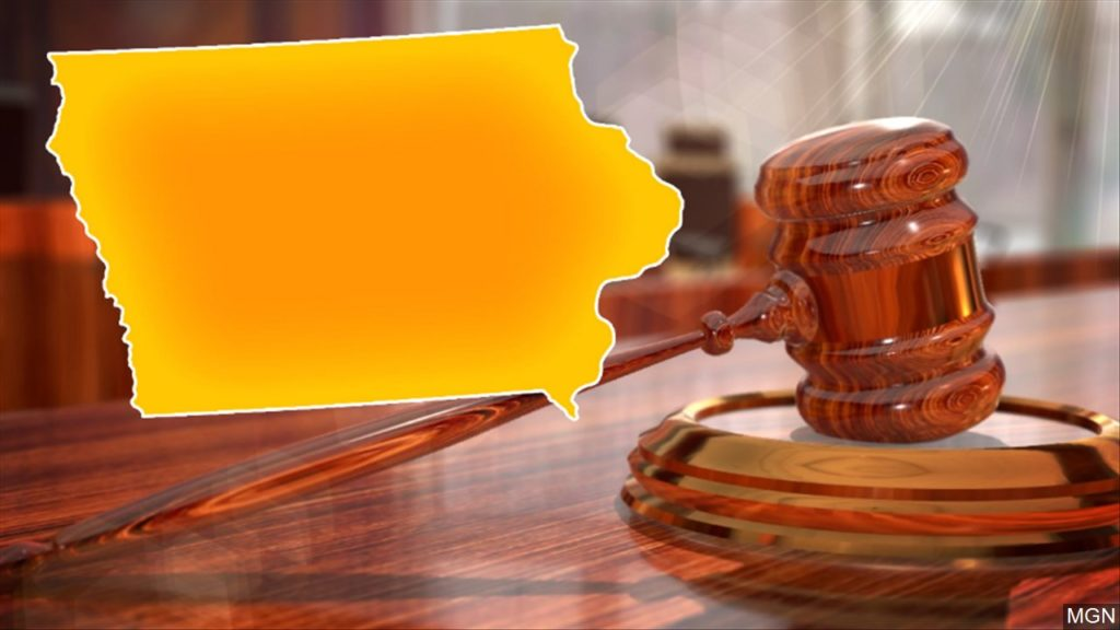 Graphic with Iowa outline and gavel