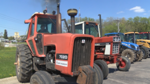 Tractors at Pine Island High School