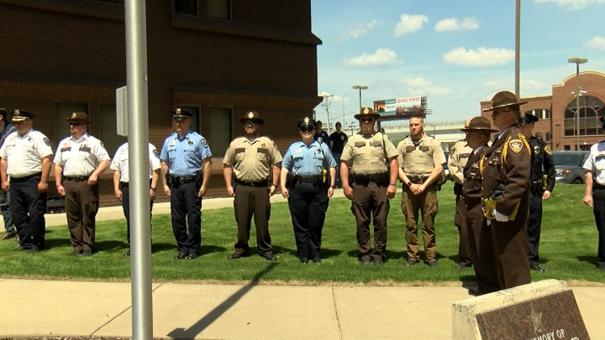 Winona County Law Enforcement Center fallen officer ceremony