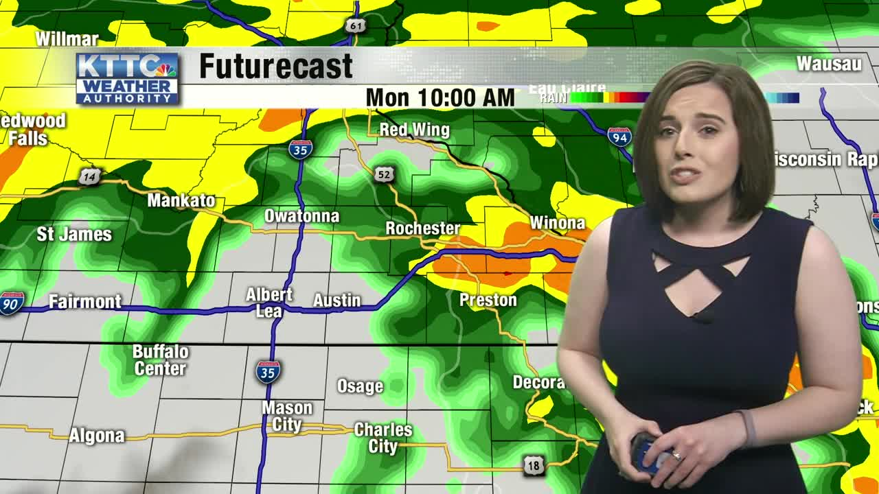 Rain and storms likely Memorial Day