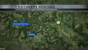 map of kayak rescue location