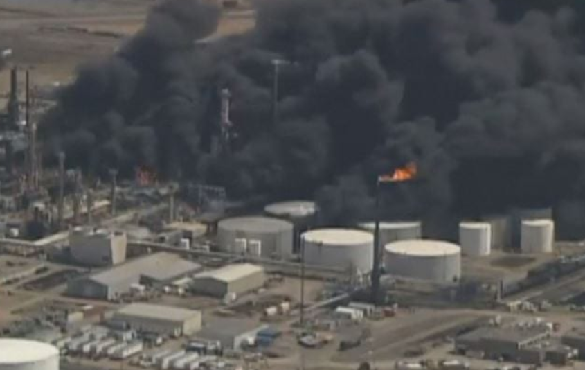 Husky refinery fire from 2018
