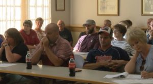 Residents question city leaders at the Zumbrota City Council meeting.
