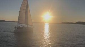 Sail boat on Lake Pepin.
