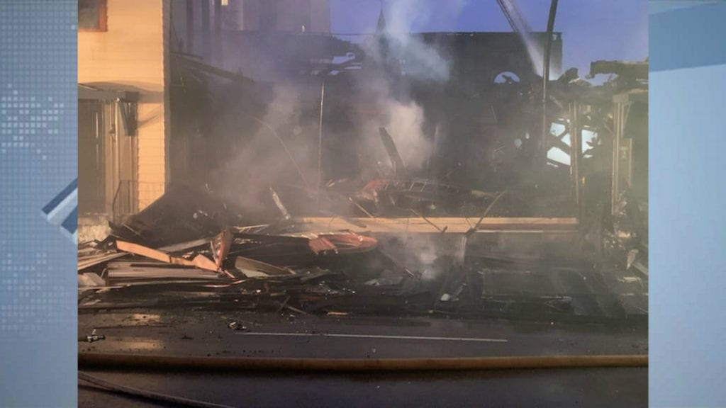 Duluth synagogue fire scene