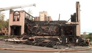 Destroyed Duluth Synagogue.