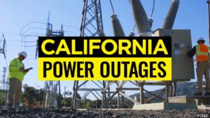 California Power Outages graphic