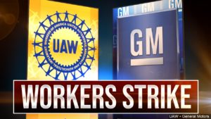 GM UAW Workers Strike graphic