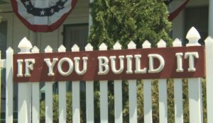 Sign at field of dreams in Dyersville, Iowa