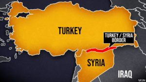 Turkey, Syria map