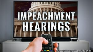 Impeachment Hearings TV graphic