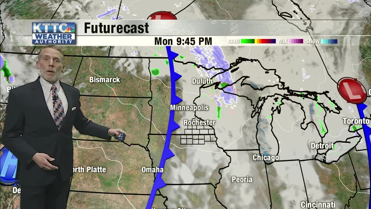 A wintry mix and some snow tonight, then a quieter Sunday afternoon