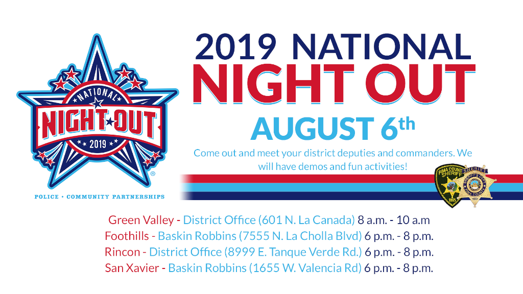 Pima County Sheriff's Department celebrating National Night Out