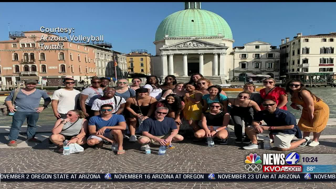 UA volleyball brags about experiences in Europe over the summer
