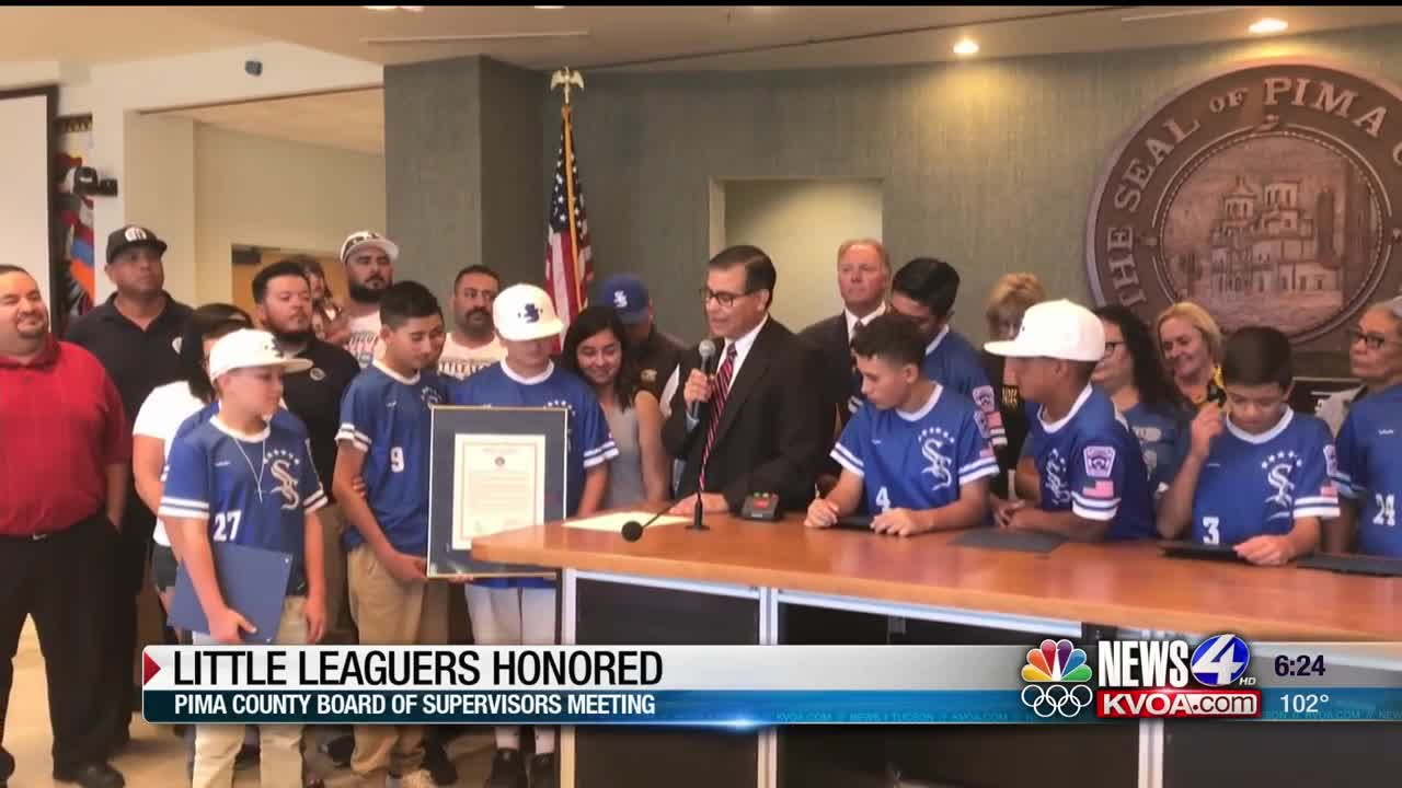 Sunnyside Little Leaguers honored by County Board of Supervisors