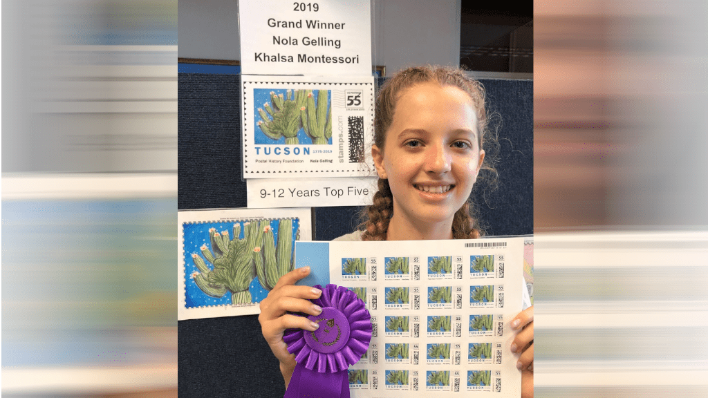 12-year-old wins Tucson Birthday Stamp Design contest