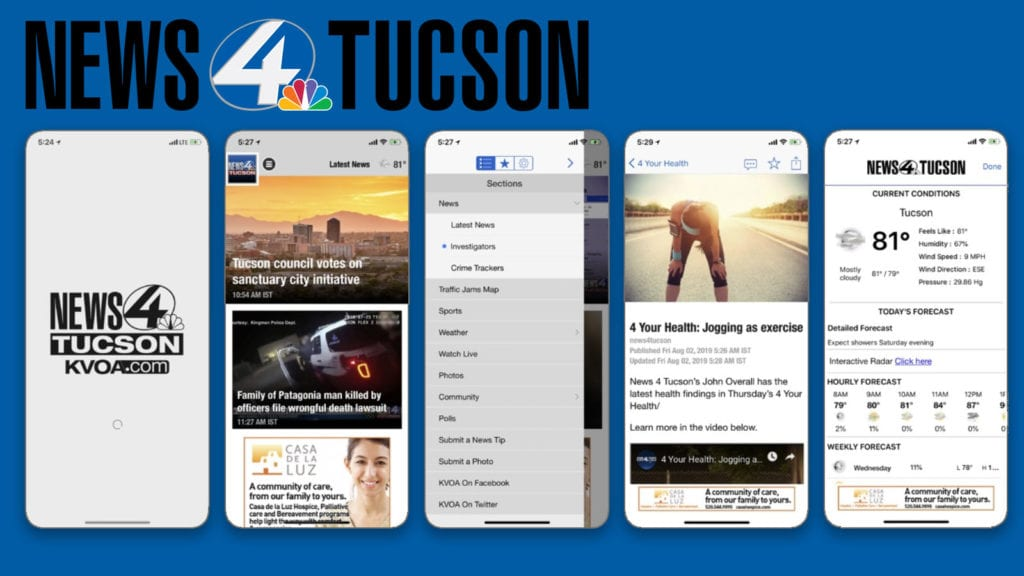 "Important: Download the new ""News 4 Tucson – KVOA"" news app now"