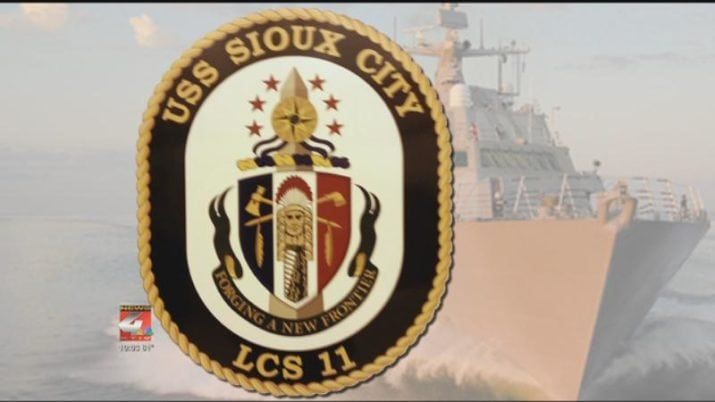 """Two members of USS Sioux City crew honored with """"Sailor of the Year"""" award"""