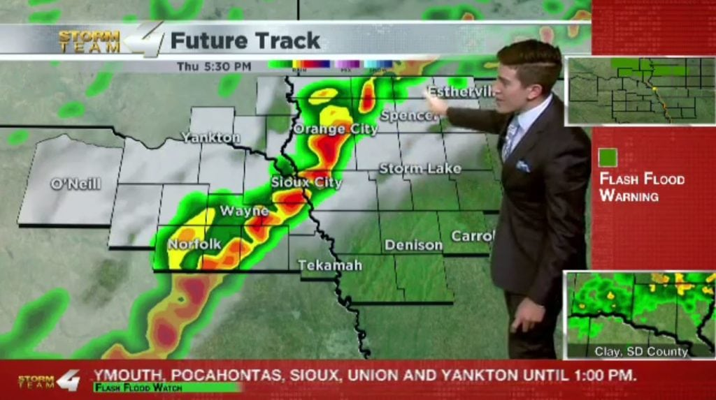 T.J.'s Forecast: News 4 at Noon update (severe weather possible)
