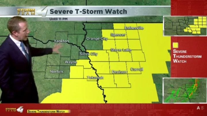 Severe T-Storm Watch issued for eastern Siouxland until 11 pm
