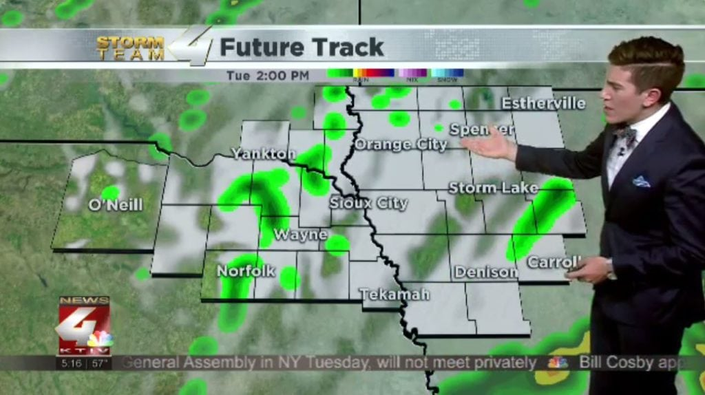 T.J.'s Forecast: Much cooler with showers