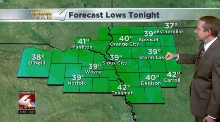 Cooler temperatures to start our weekend