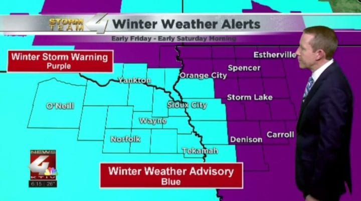 A winter storm to move into Siouxland Friday