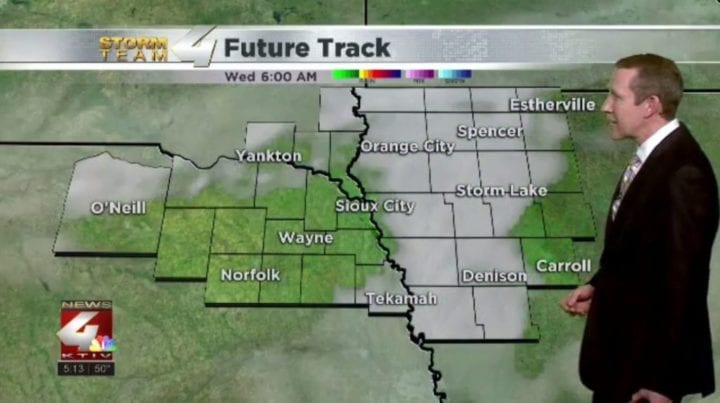 Light rain chance moves out with dry weather through Friday