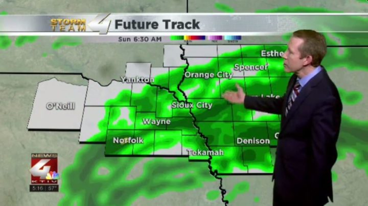 Some rain moves into Siouxland for the weekend