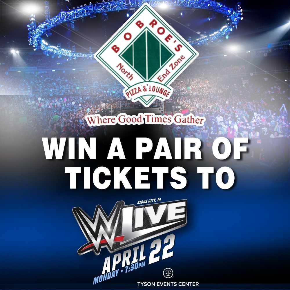 Bob Roe's North Endzone  WWE Giveaway Official Rules