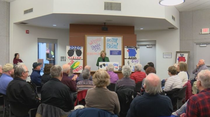 Dr. Jill Biden, wife of Presidential Candidate Joe Biden, makes campaign stop in Sioux City