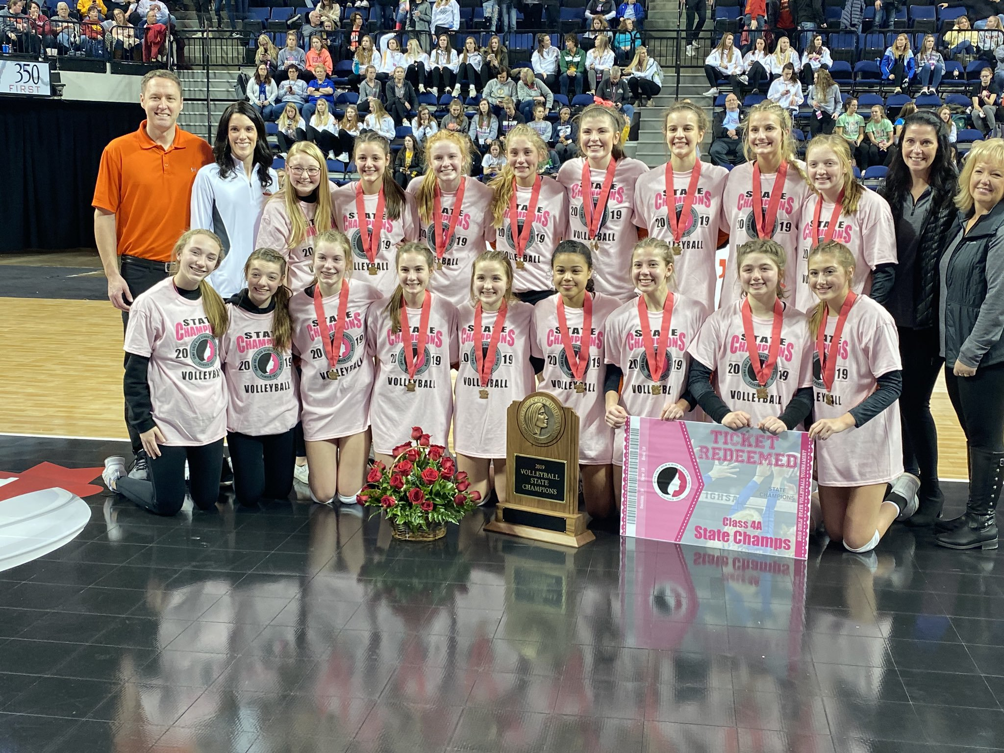 Sgt. Bluff-Luton captures state volleyball title