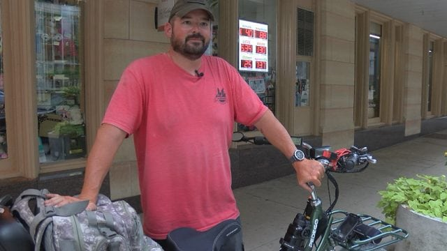 Veteran bikes across country to raise PTSD awareness