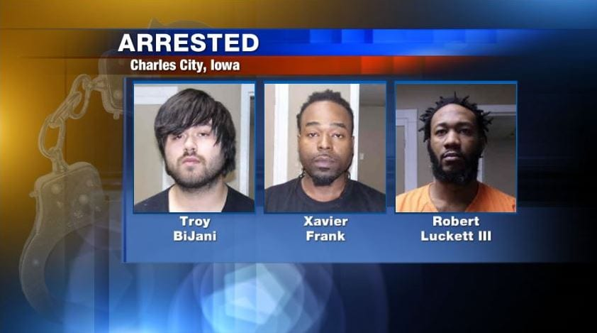 Stolen guns recovered in Charles City, three men arrested