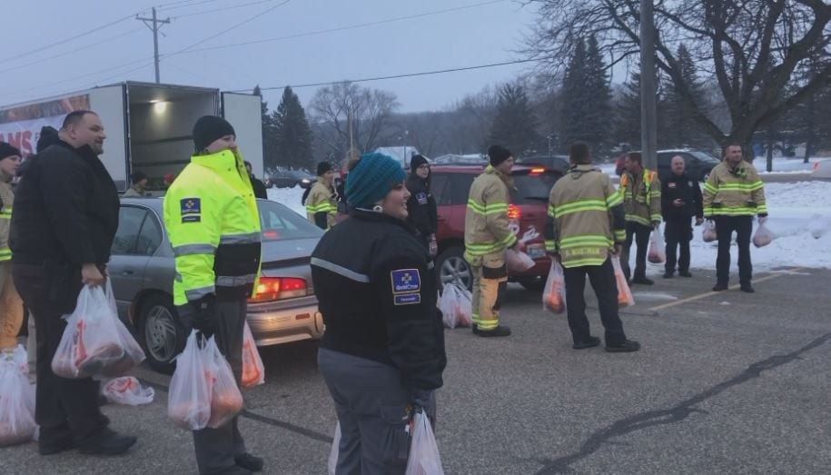 Local companies partner with first responders to ensure families have a holiday meal