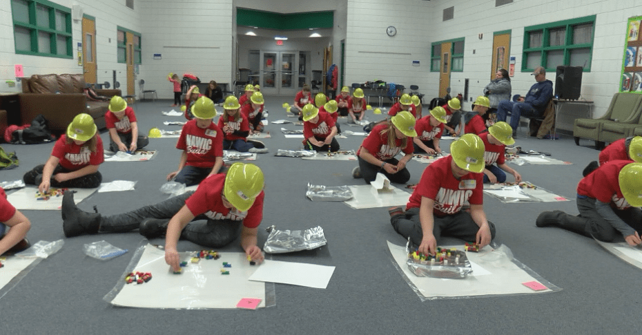 Students learn about construction industry through friendly competition
