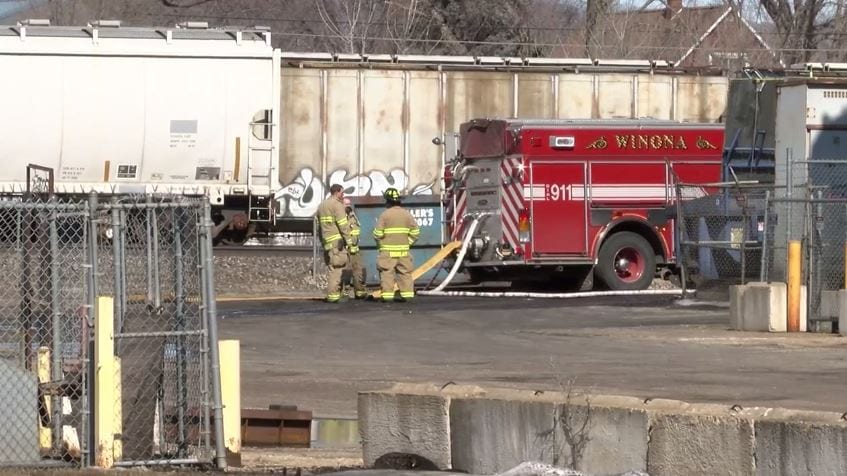 Winona firefighters respond to major molten metal spill inside Badger Foundry