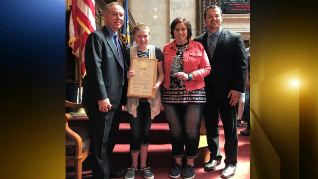 Jayme Closs honored at Wisconsin capitol as hometown hero